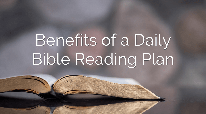 A daily Bible reading plan is a great way to feed on the Word of God. You should be able to complete the entire Bible in one year by reading about 15 minutes per day!